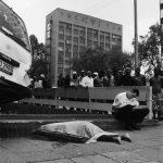 Taxi Accident, corner of Rissik and Wolmarans Street, Braamfontein, 2006