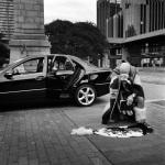 Siggy, praying outside The House of Legislator, Johannesburg Central, 2006