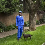Benjamin with Marley, Saxonwold Drive, Saxonwold, Johannesburg, South Africa, 2013