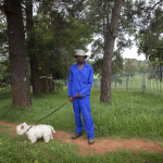 Charles with Dandy, River Street, Houghton Estate, Johannesburg, South Africa, 2014