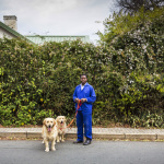 Daniel with Holly and Charles, Orchards, Johannesburg, South Africa, 2014