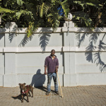 Danny with Monty, 3rd Ave, Houghton, Johannesburg, South Africa, 2014