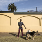 James with Nimo and Chissa, 3rd Street, Houghton, Johannesburg, South Africa, 2014
