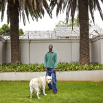 Lucas with Chewy and Stella, 8th Street, Houghton Estate, Johannesburg, South Africa, 2014
