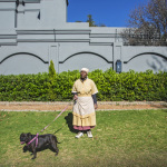 Martha with Maggie, Victoria Street, Oaklands, Johannesburg, South Africa, 2014