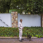 Mathews with Boat, Bristol Rd, Parkwood, Johannesburg, South Africa, 2014