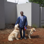 Oken with Molly and Sugar, Cresent Road, Parktown North, Johannesburg, South Africa, 2014