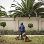 Oscar with Ozzias and Fabio, Bruce st, Waverly, Johannesburg, South Africa, 2014