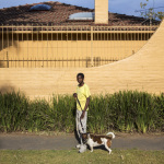 Phillip with Luna, Jessie Ave, Norwood, Johannesburg, South Africa, 2014