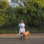 Portia with Lulu, Eirdge Road, Forest Town, Johannesburg, South Africa, 2014