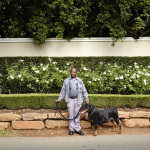 Terrence with Emma, River Street, Houghton Estate, Johannesburg, South Africa, 2014