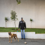 Thembile with Jackson, 16th Street, Parkhurst, Johannesburg, South Africa, 2014