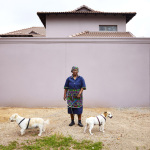 Willamina with Jack, Fred and Fluffy, 8th Avenue, Houghton Estate, Johannesburg, South Africa, 2014